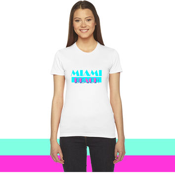 Miami Beach_ women T-shirt