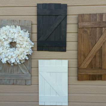 Mini Barn door- rustic decor- wall hanging- weathered wood- rustic home decor.