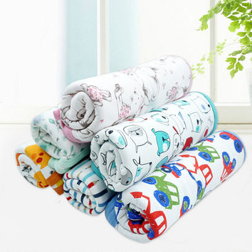 Baby Bed Sheet 100% Cotton Double Layers Infant Beddings Boy Girl Blanket Kids Sheets Children Bedcover 90*120cm Retail