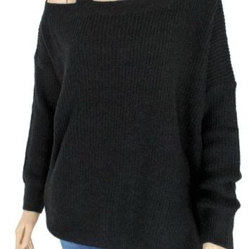Women's Shoulder Strap Sweater