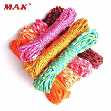 Outdoor 25ft/50ft/100ft 550 Paracord Parachute Cord Lanyard Rope Mil Spec Type III 7 Stand Survival Rope for Climbing