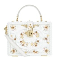 Dolce & Gabbana Floral Embellished Padlock Top Handle Bag | Harrods