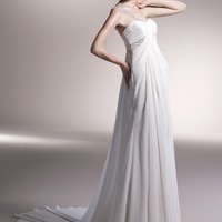 Wholesale Empire Sweetheart Floor Length Gown with Chiffon CASPER for $185.00 from China : IndeedBuyer.com.  - IndeedBuy