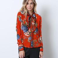 Dreamin' Of Flower Blouse - Red Floral