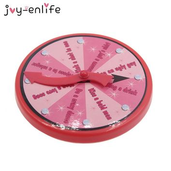 JOY-ENLIFE 1pcs Pink Spinner Game Compass Badge Dance Kiss Crazy Rave Party Bachelorette Party Pool Party Hen Party Supplies
