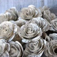 Vintage Music Sheet Paper Flowers for Wedding Decors | AccentsandPetals - Wedding on ArtFire