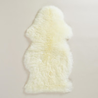 "21"" x 41"" Natural Sheepskin Rug - World Market"