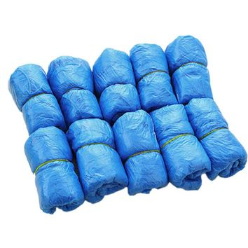 100PCS Plastic Disposable Shoe Covers Medical Waterproof Boot Covers Overshoes Rain Shoe Covers Mud-proof Blue Color Solid 2017