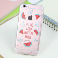 Cute Watermelon Cover Case for iPhone 5s 5se 6 6s Plus Gift 318