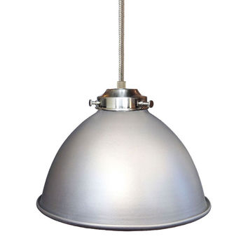 "Factory 7 1/16"" Metal Shade Pendant Light- Nickel"