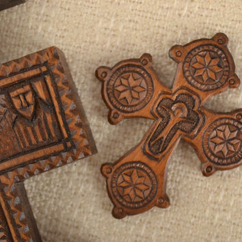 Handmade crucifix necklace cross jewelry wooden necklace best gifts for men