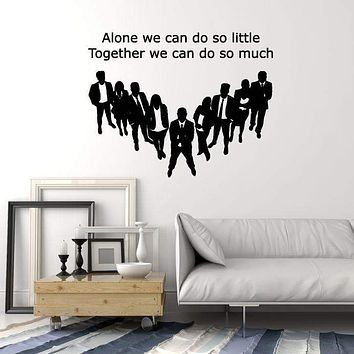 Vinyl Wall Decal Team Quote Teamwork Office Decor Inspirational Art Stickers Mural (ig5473)