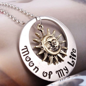 2015 Movie Jewelry New Fashion moon of my life Sun Star necklace Song Of Ice And Fire Necklace Game Of Thrones Pendants