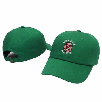 Cherry Bomb Green Odd Future OFWGKTA Golf Wang Wolf Gang Hip Hop Snapback Sports Cap Casquette Baseball Polo Strapback Hat