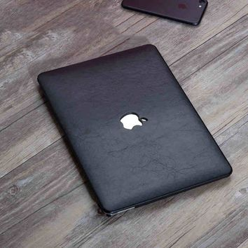 "PU Leather Coated Protect Sleeve Laptop Case Cover For Macbook Pro Retina 13""15""With Cut Logo"