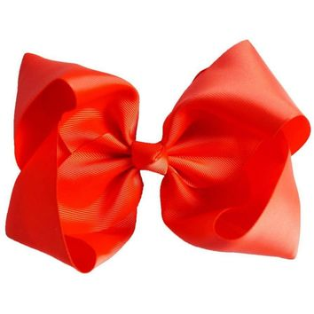 Grosgrain Boutique Hairbow, Orange