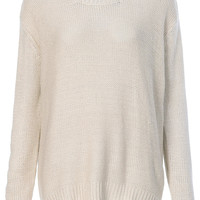 Knitted Zip Back Jumper - Knitwear - Clothing - Topshop USA