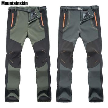Winter Men Women Hiking Pants Outdoor Trousers Waterproof Windproof Thermal for Camping Ski Climbing