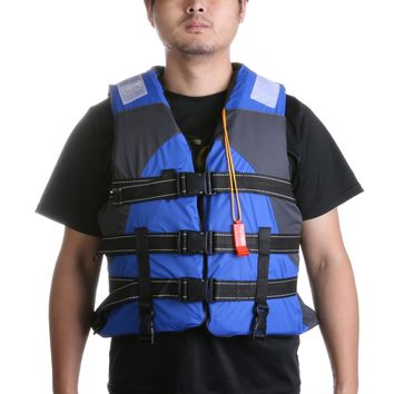 Water Sports Life Vest Professional Adult Polyester Life Jacket Fishing Life Saving Jacket Inflatable For Drifting Boating
