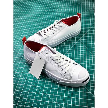 Converse Jack Purcell Signature White Red Shoes