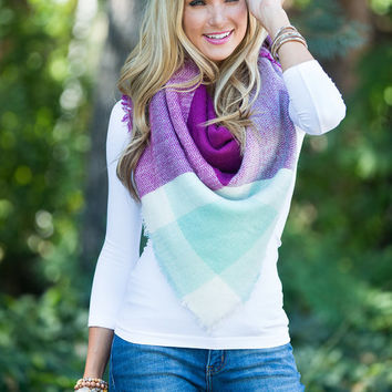 Color Blocked, but Boundless Blanket Scarf