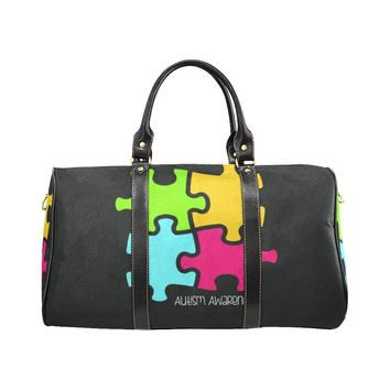 Autism Design 9 Travel Bag Black