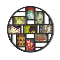 Round Modern 9 Photo Collage Wall Frame