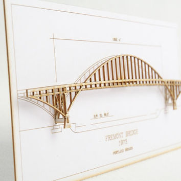 Architectural Model of Portland's  Fremont Bridge