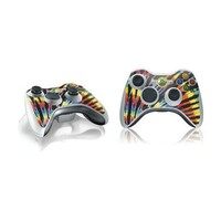 Tie Dye Xbox 360 Wireless Controller Skin - Tie Dye - Rainbow Vinyl Decal Skin For Your Xbox 360 Wireless Controller