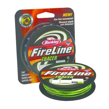 "FireLine Fused Tracer Superline Line Spool 1500 Yards, 0.015"" Diameter, 30 lb Breaking Strength, Smoke/Flame Green"