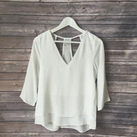 Valencia Vneck Layered Top (White)