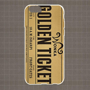 Golden Ticket Wonka iPhone 4/4S, 5/5S, 5C Series Hard Plastic Case
