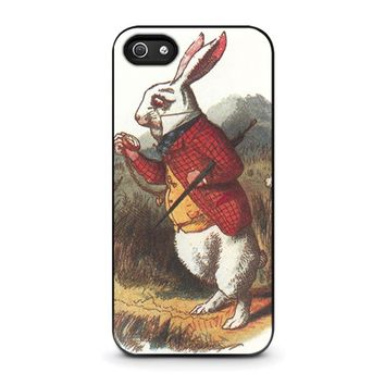 WHITE RABBIT ALICE IN WONDERLAND Disney iPhone 5 / 5S / SE Case Cover