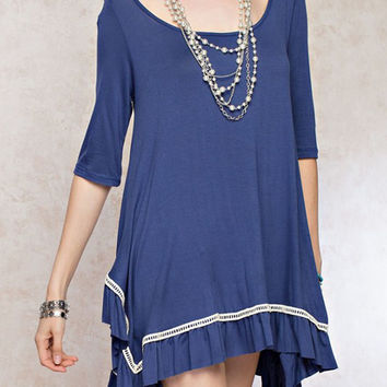 Short Oversized Tunic Dress