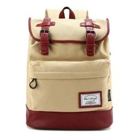 [HotStyle City Outdoor] 924s Retro Canvas Laptop Rucksack Backpack (19L), Khaki