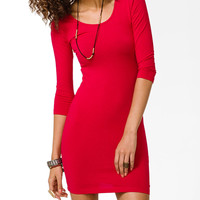 3/4 Sleeve Bodycon Dress