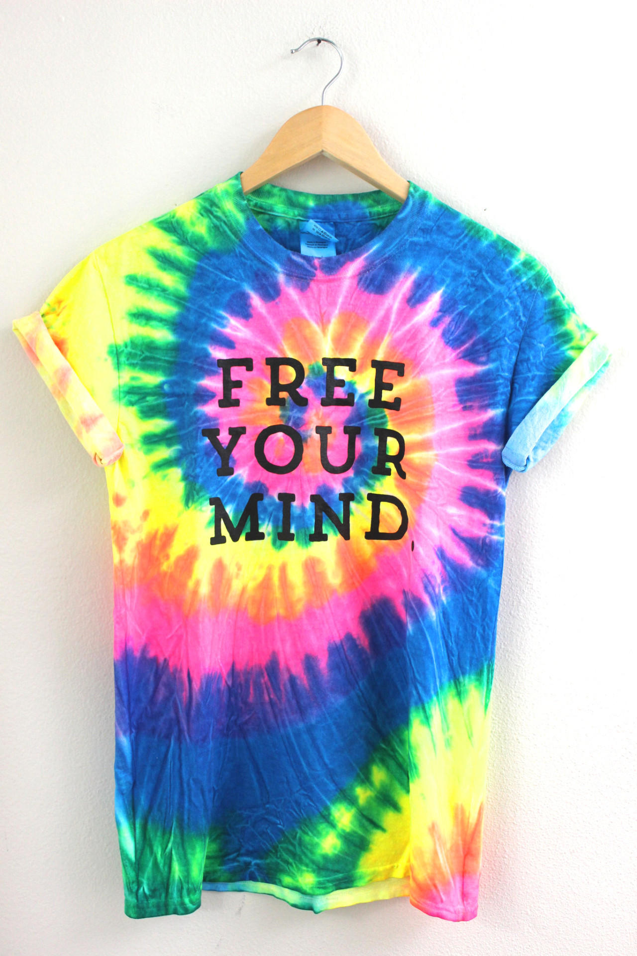 free your mind bright rainbow tie dye from era of artists