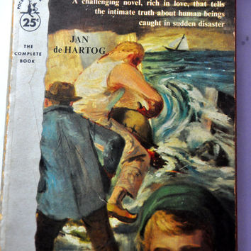 1950s Paperback Novel - The Little Ark by Jan de Hartog, 1955. Pocket Book 1042