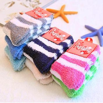 Free Shipping 10Pairs/Lot Winter Warm Socks For Women High Quality Towel Warm Fuzzy Socks Candy Color Thick Floor Thermal Socks