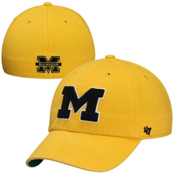 Michigan Wolverines Franchise Fitted Hat – Yellow