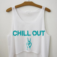 Chill out Crop Top by Hipster Tops