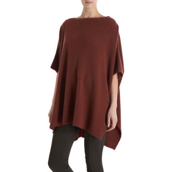 Vince Poncho W/Zip Shoulder