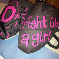 Breast Cancer Awareness Custom TOMS