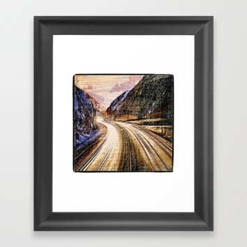 Just drive Framed Art Print by Jessica Ivy