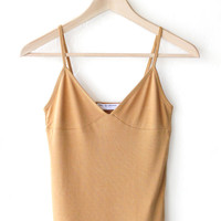 V-neck Cami Top - Mustard