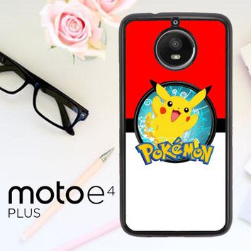 Pokemon Pikachu E0564 Motorola Moto E4 Plus Case