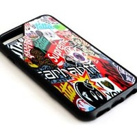 Best Supreme Sticker Bomb iPhone 6 6s 7 7+ 8 + Hard Plastic Case