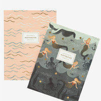 Set of 2 Softcover Notebooks: Mermaid | By Ink + Volt