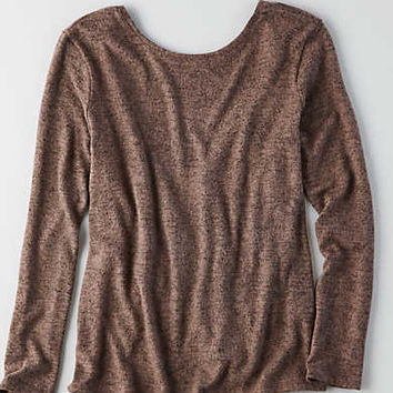 AEO Low Wrap Back Shirt , Mauve