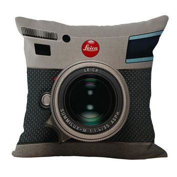 definite conversation starter fun camera pillow case for those of us who love self